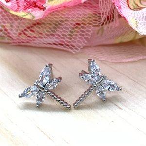 Sterling Silver 925 CZ Stud Earrings